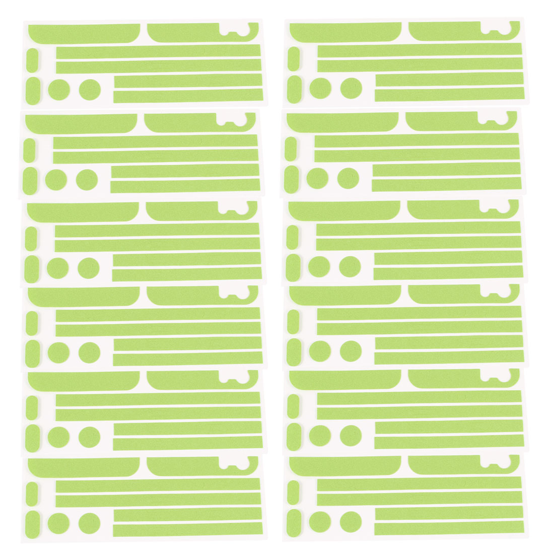 12 Pcs Green Front Back Side Wrap Decal Skin Edge Sticker Set for iPhone 5 5G 5S