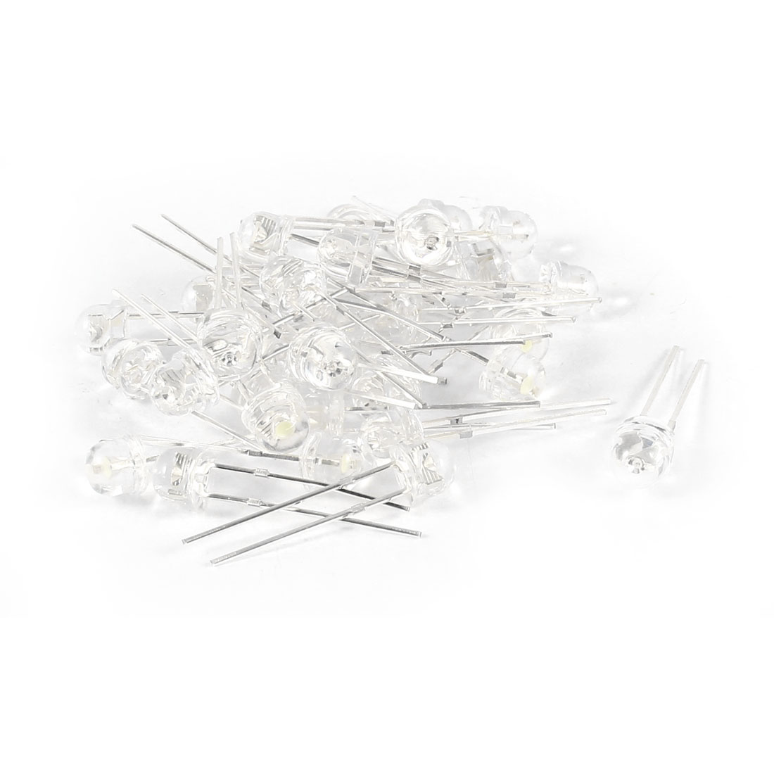 50 Pcs Straw Hat 5mm Red Green White LED Lamp Light Emitting Diodes Replacements