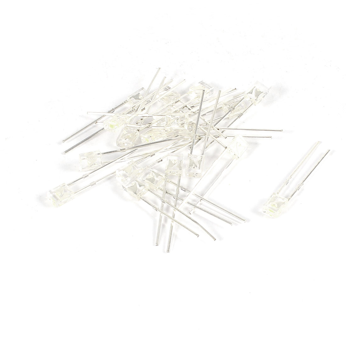 20 Pcs 4mmx3mmx2mm Clear Head Yellow White LED Light Emitting Diodes DC 1.7-3.0V
