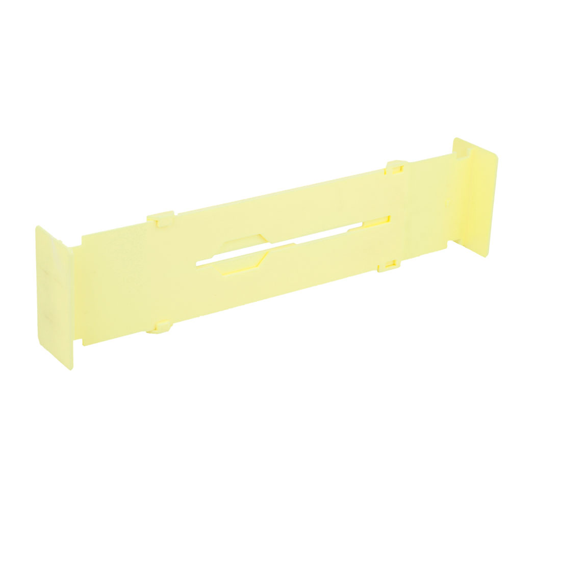 Lemon Yellow Plastic Flexible Clapboard Dresser Drawer Divider Plate