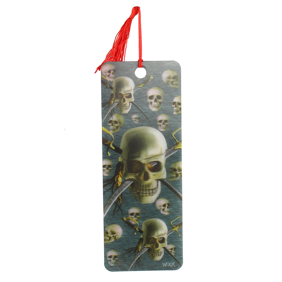 Bookstore Featuring 3D Skull Pattern Design Bookmark Multicolor