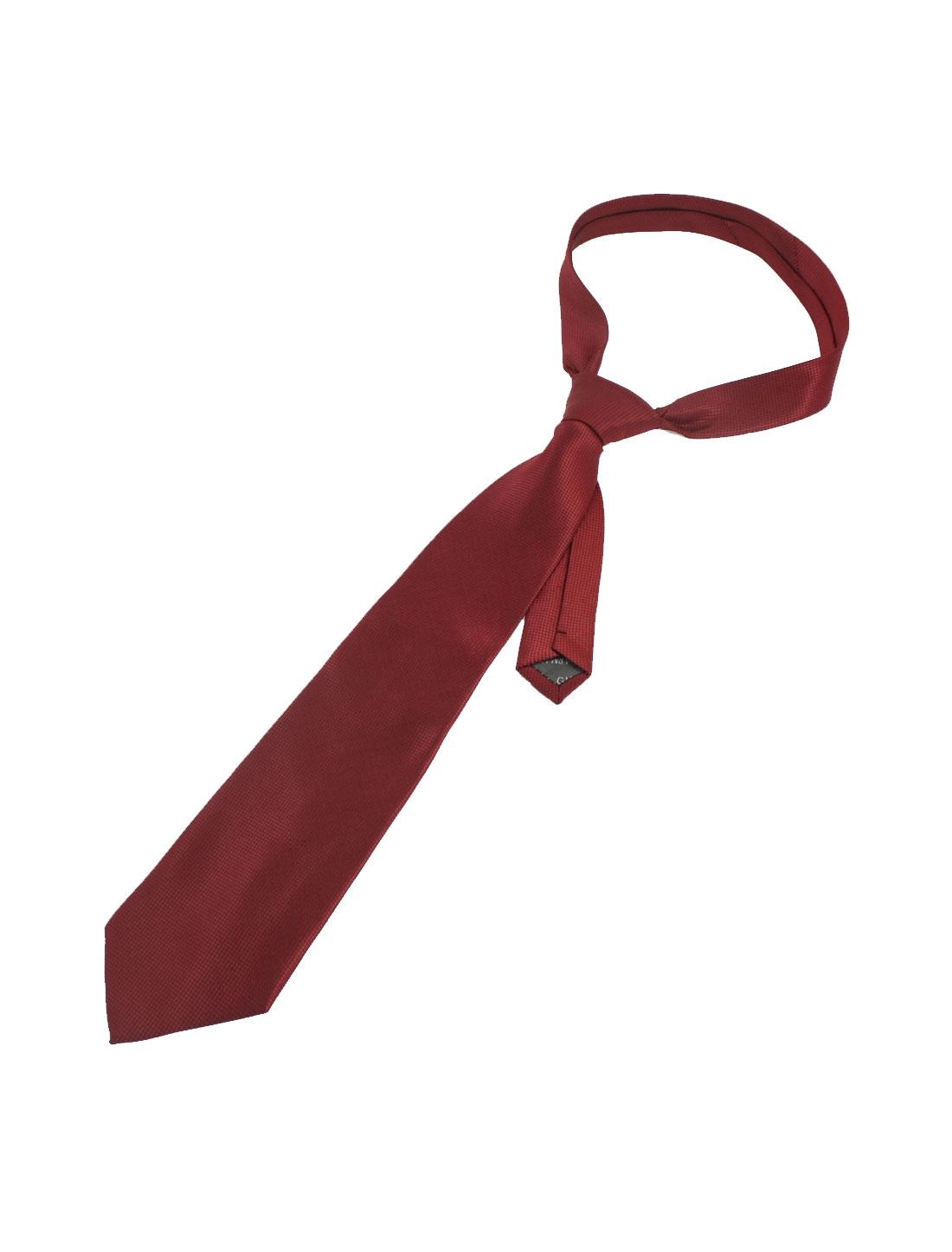 Plaid Pattern Style Self Tie Neckwear Necktie Red Black for Man