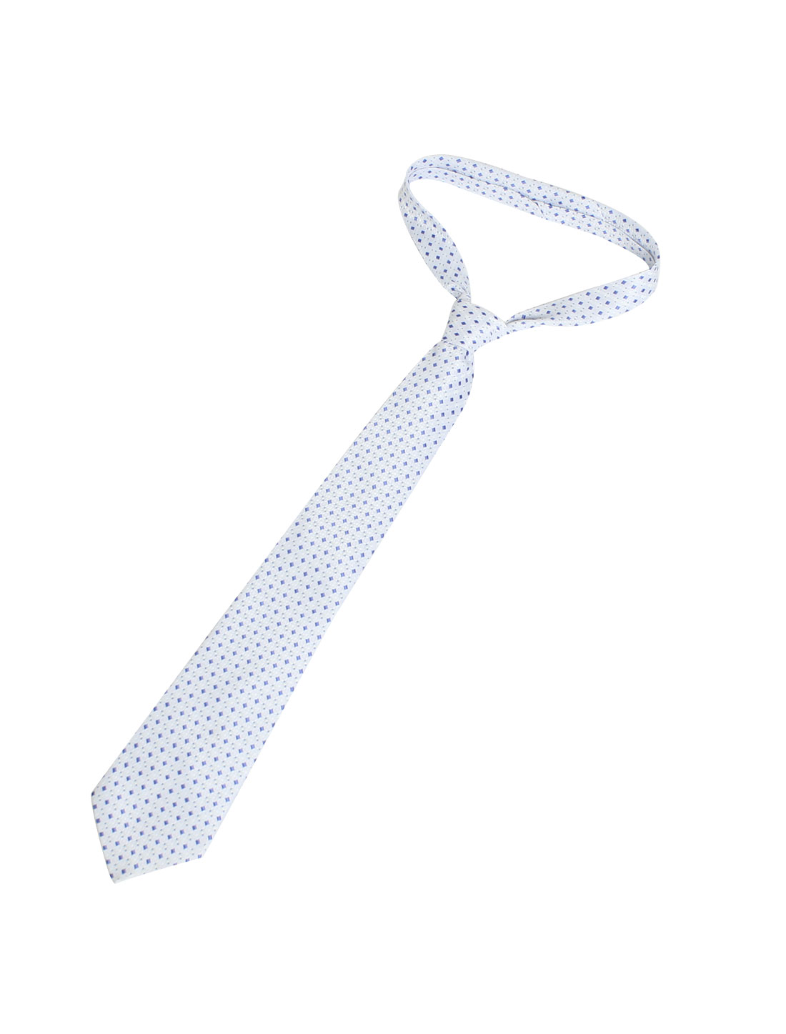 9.5cm Width Polyester Blue Dots Decor Self Tie Neckwear Necktie for Men