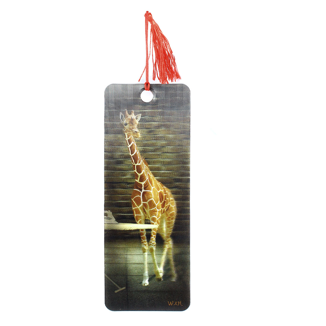 Portable Featuring 3D Giraffe Print Design Bookmark Multicolor