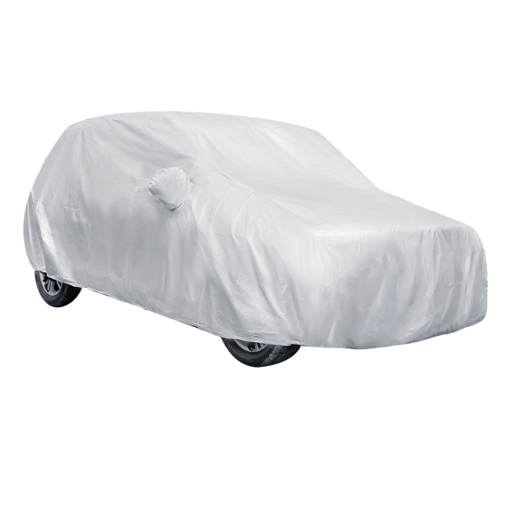 Silver Tone Waterproof Sun UV Dust Rain Resistant All Weather Protective Car Cover Size YL 480*175*150(L*W*H)