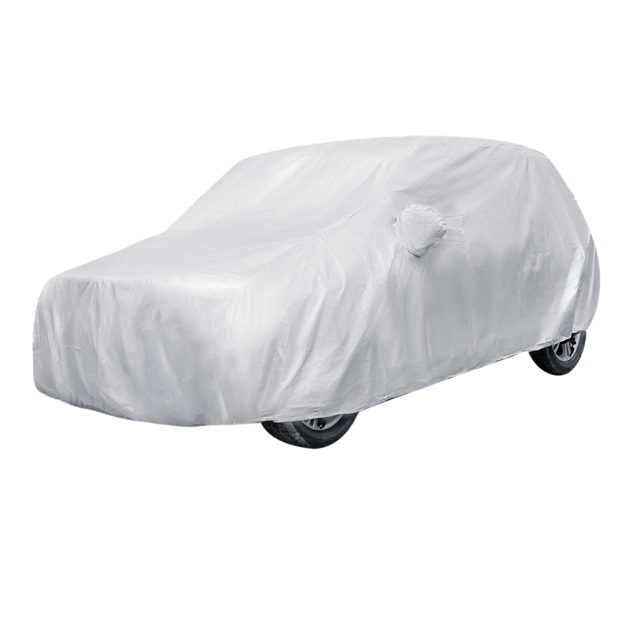 Silver Tone Waterproof Dust Rain Resistant Weather Protective Car Cover Size YXL 540*175*150cm(L*W*H)
