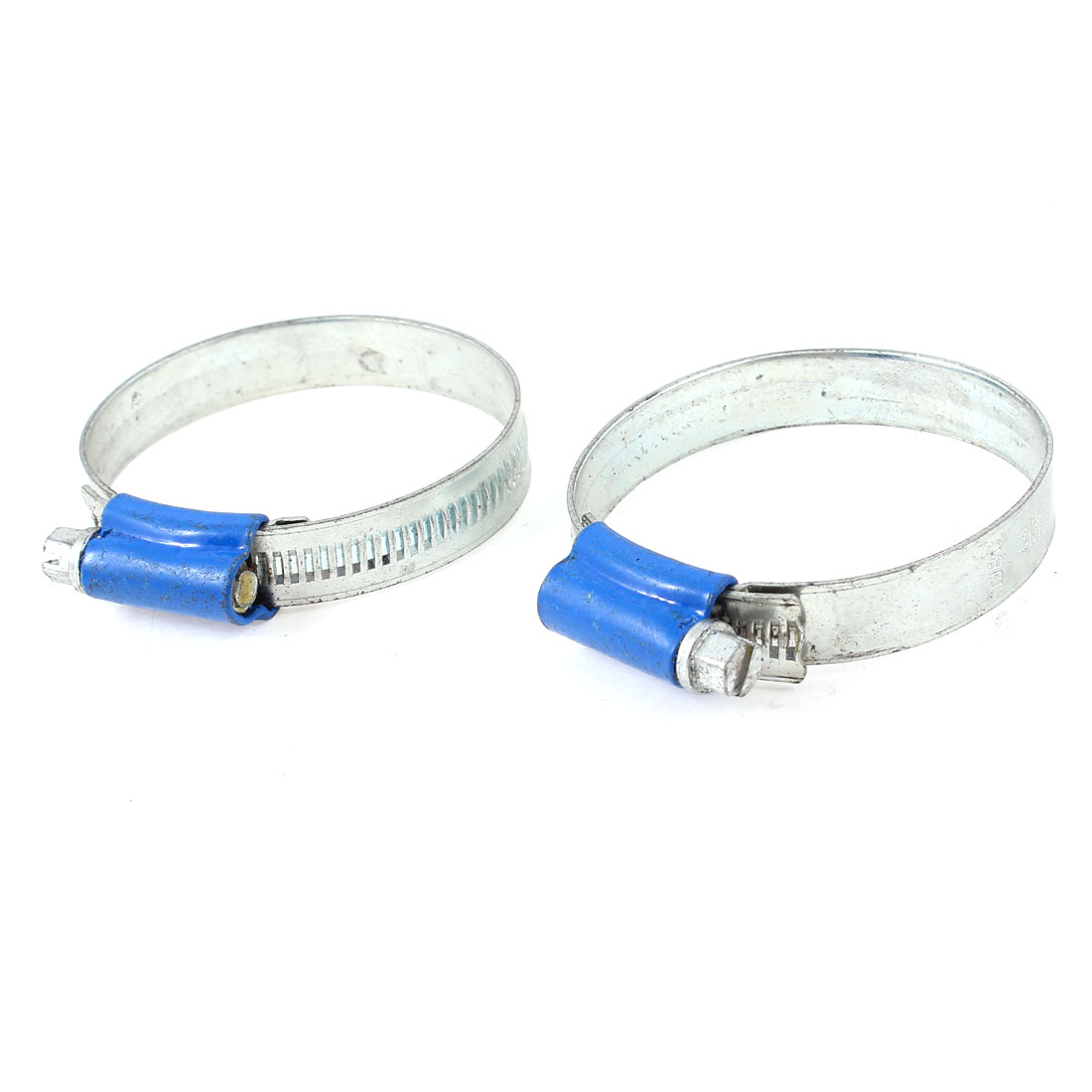 2 Pcs 44mm-56mm Adjustable Worm Drive Hose Clamp Clips