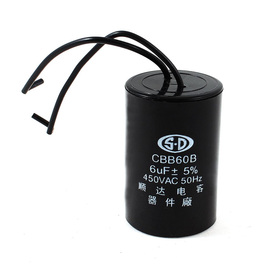 AC 450V 6uF 50Hz CBB60B Polypropylene Film Motor Run Capacitor