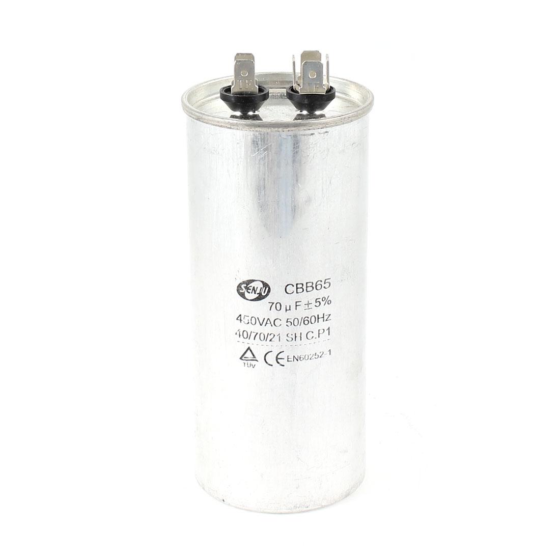 AC 450V 70uF 50/60Hz CBB65 Polypropylene Film Motor Capacitor