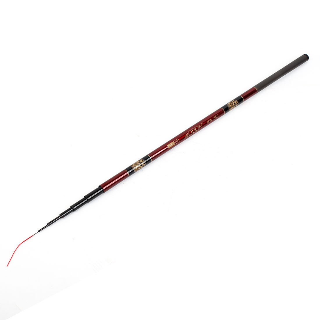 Burgundy Black 3.6M 7 Sections Telescopic Fishing Pole for Fisherman