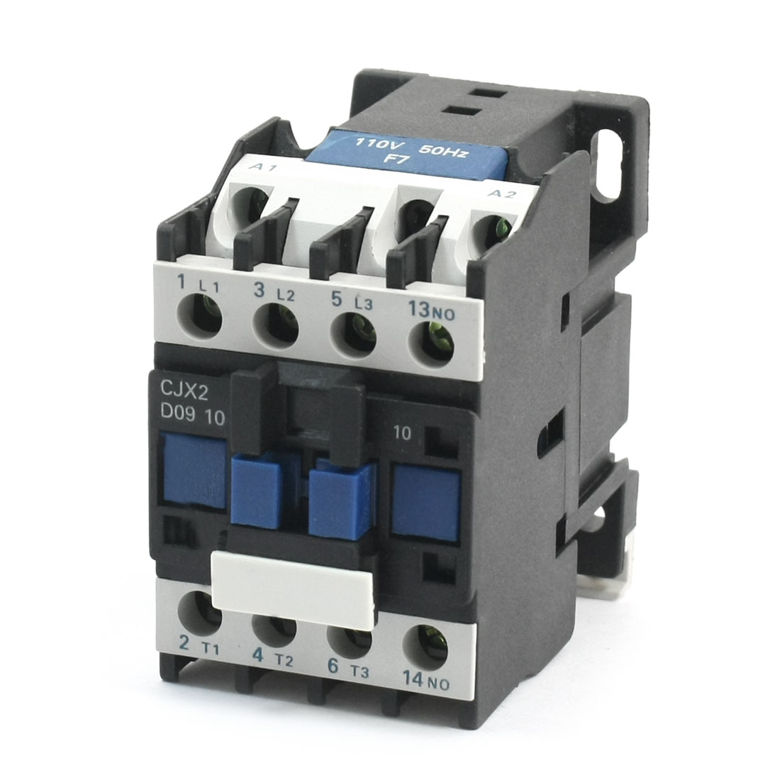 CJX2-0910 AC110V Coil 35mm DIN Rail Mounting 11 Screw Terminals 3-Pole 3 Phases Electric Power Contactor