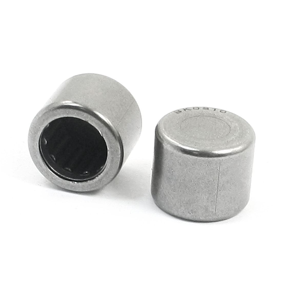 2Pcs KB0810 One Closed End Drawn Cup Silver Gray Needle Roller Bearing 8mm x 12mm x 10mm