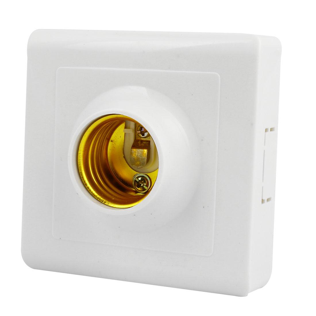85mm x 85mm White Plastic Base Bulb Socket Lamp Holder 60W 220V