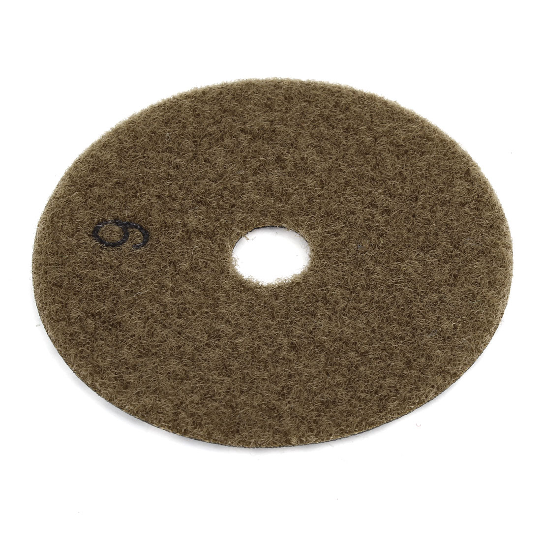 Gray Brown 10cm Dia Diamond Polishing Pad 4mm Thick for Concrete Granite