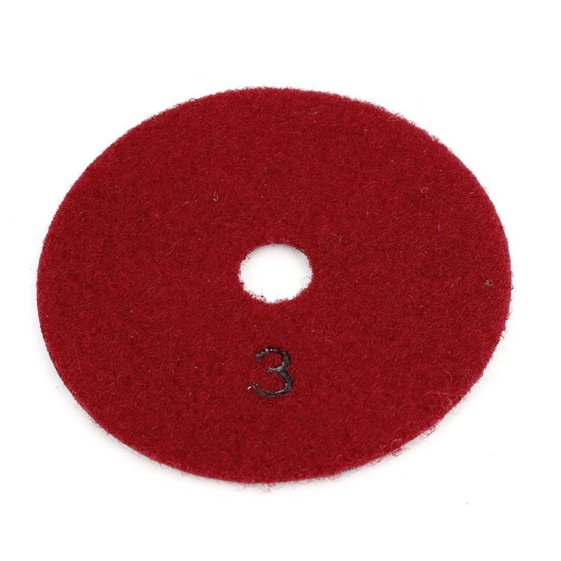 Burgundy Dry Wet Diamond Polishing Pad Disc 10cm Dia for Floor Grinding