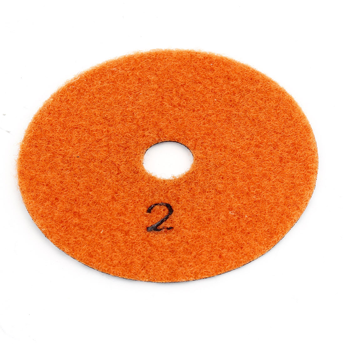 Pink Orange Disc Shaped Wet Dry Diamond Polishing Pad 10cm Dia