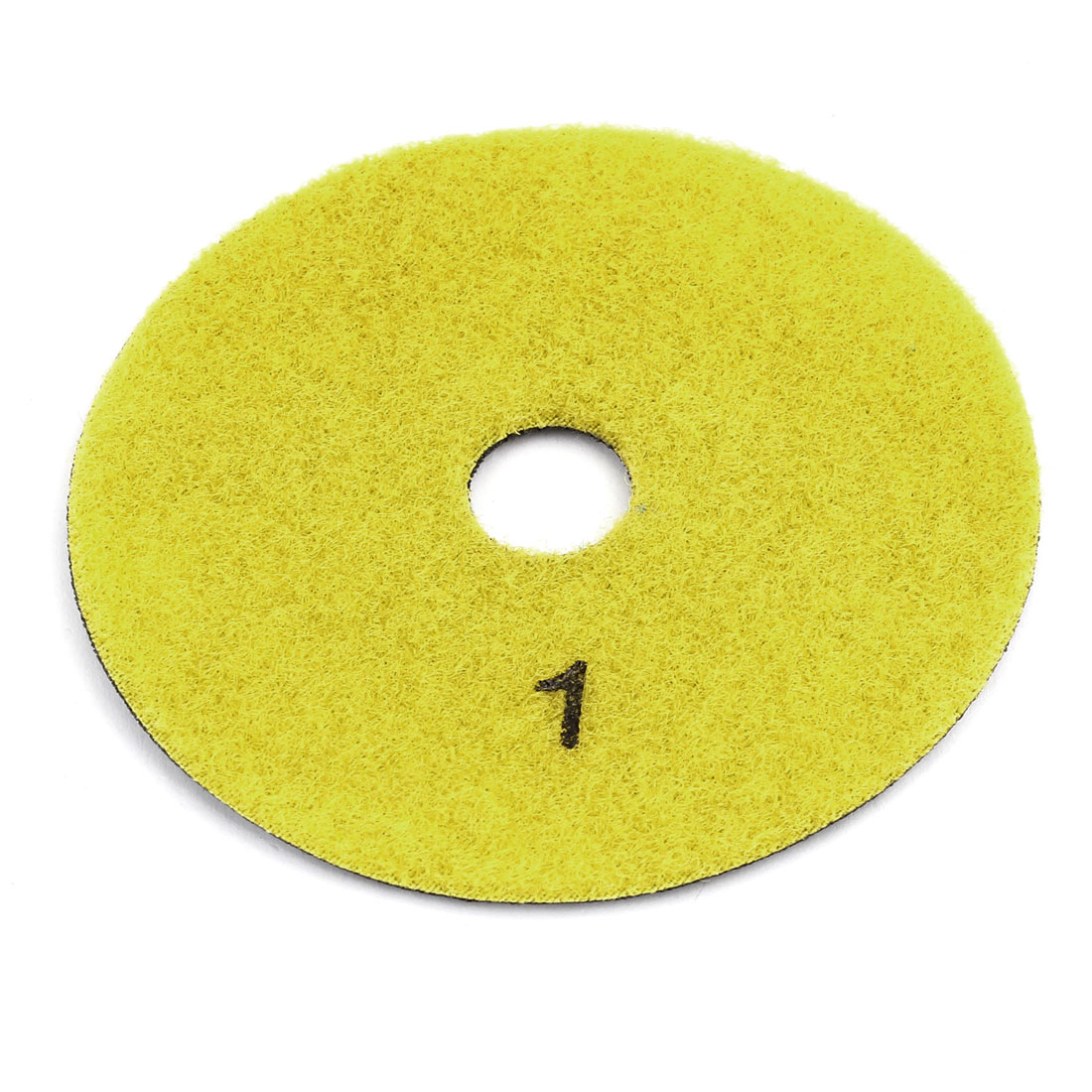 "Yellow Gray Dry Wet Diamond Polishing Pad Disc 3.9"" Dia for Floor Grinding"