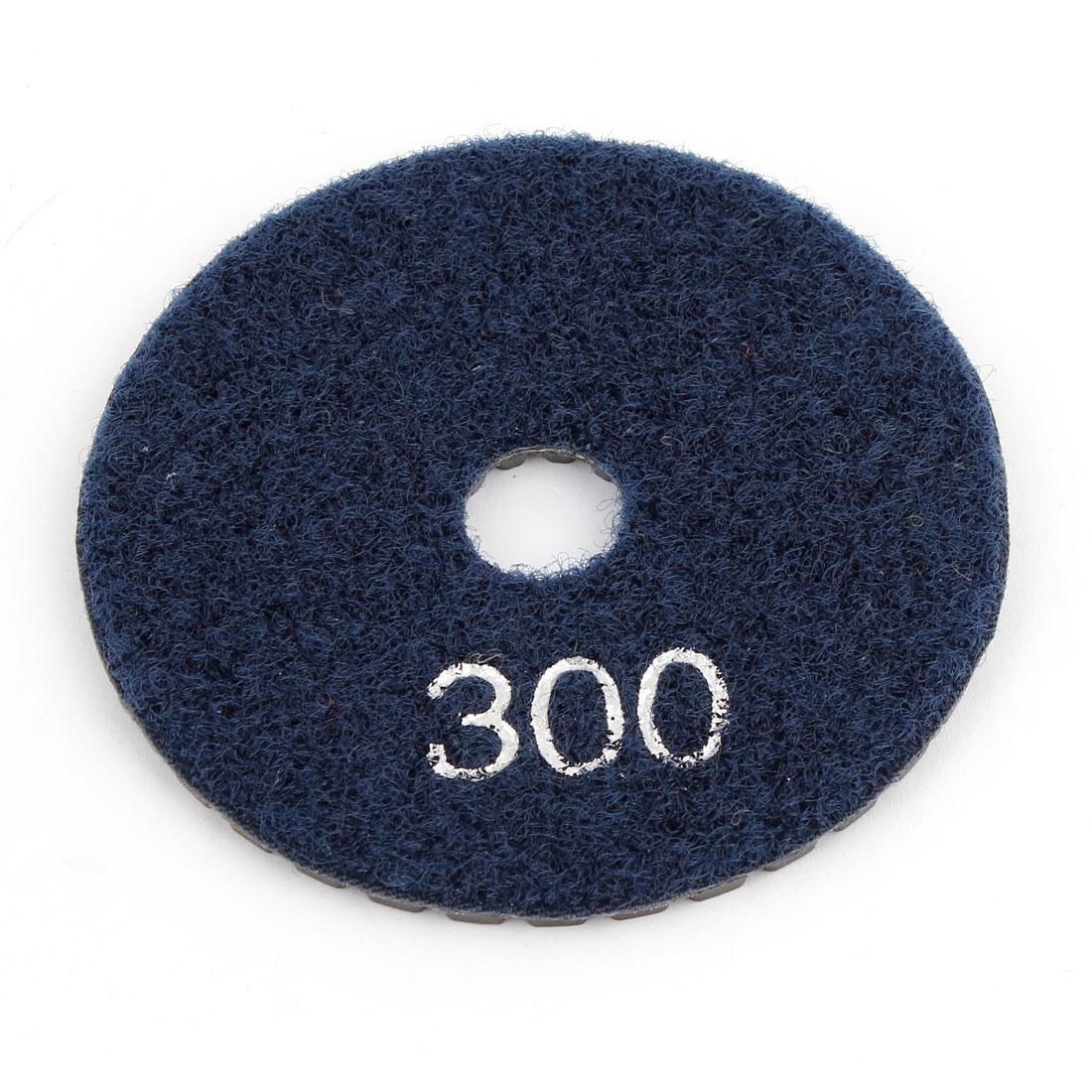 "Dark Blue Grit 300 3"" Diameter Tile Stone Polisher Grinder Diamond Polishing Pad"
