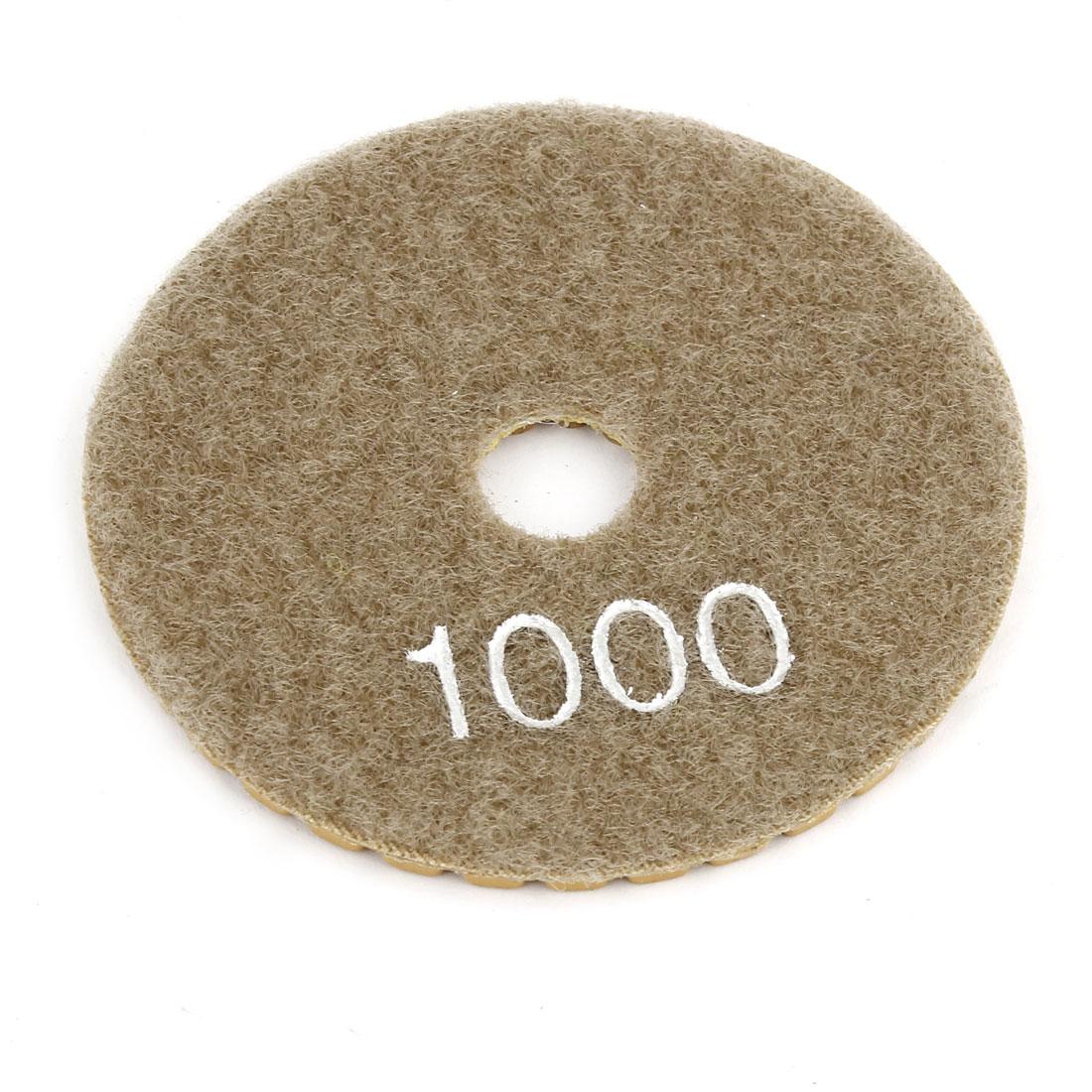 "Brown Gray Grit 100 3"" Diameter Tile Stone Polisher Grinder Diamond Polishing Pad"