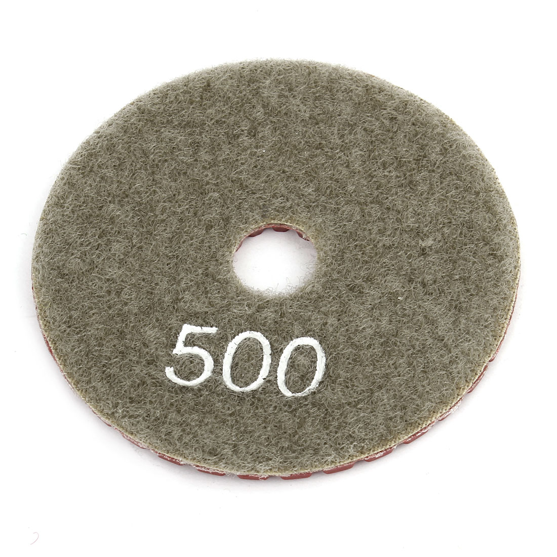 "Red Gray Grit 500 3"" Diameter Tile Stone Polisher Grinder Diamond Polishing Pad"