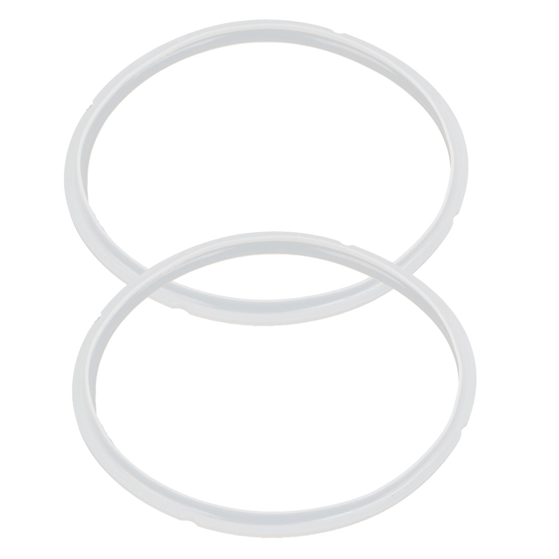 2 Pcs White 23cm Inner Diameter Gasket Sealing Ring for 7-8L Pressure Cookers