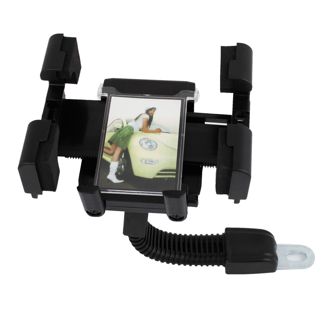 Black Plastic 360 Degree Adjustable Rotating Phone GPS Holder Stand Support for Car