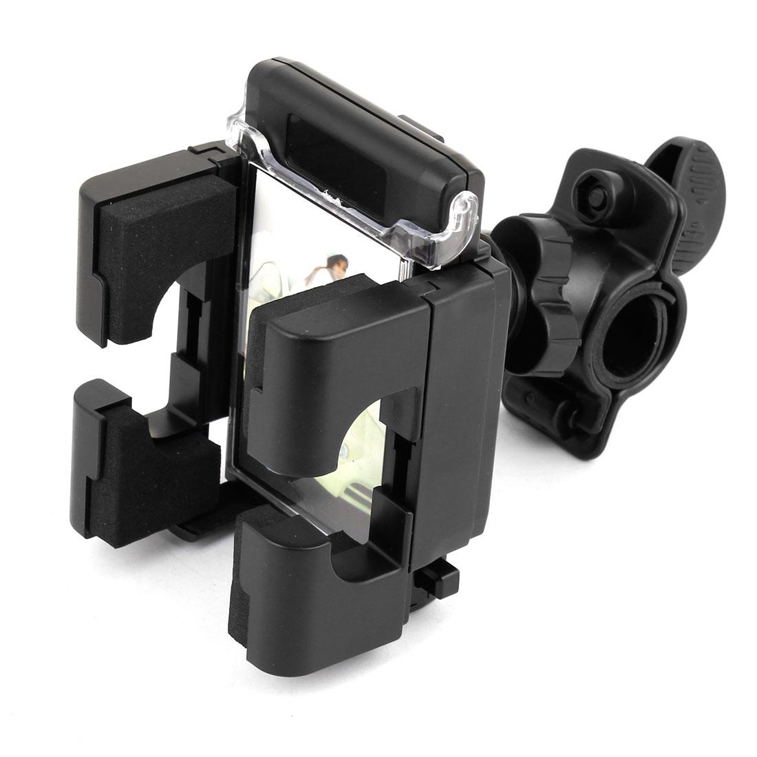 Black Hard Plastic 360 Degrees Rotating Antiskid Car GPS MP3 Phone Holder