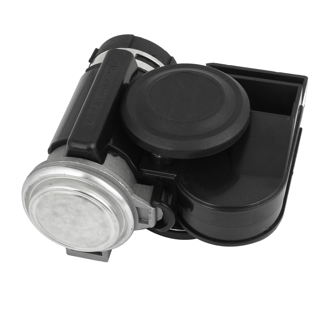 Black Metal Shell Compact Air Horn Loud 12V for Car Truck