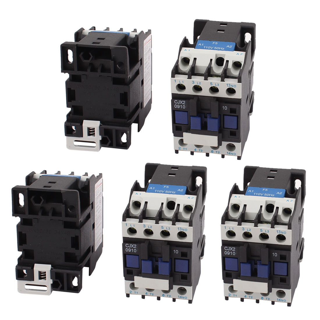 CJX2-D0910 AC 110V Coil Volt NO 3-Pole Electric Power AC Contactor 5pcs