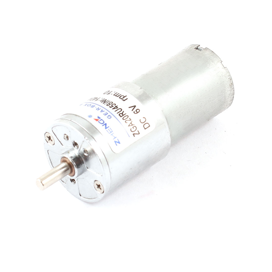 DC 6V 10RPM 3mm Shaft Dia Speed Reduce Cylinder Metal Electric Geared Box Motor