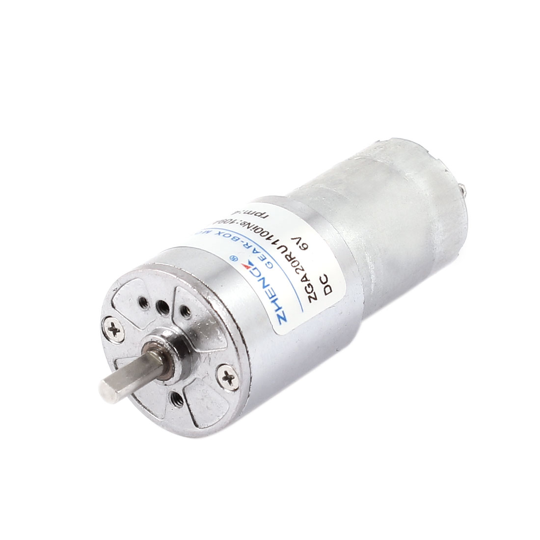 DC 6V 4600RPM 3mm Shaft Dia Cylindrical Metal Electric Geared Box Motor