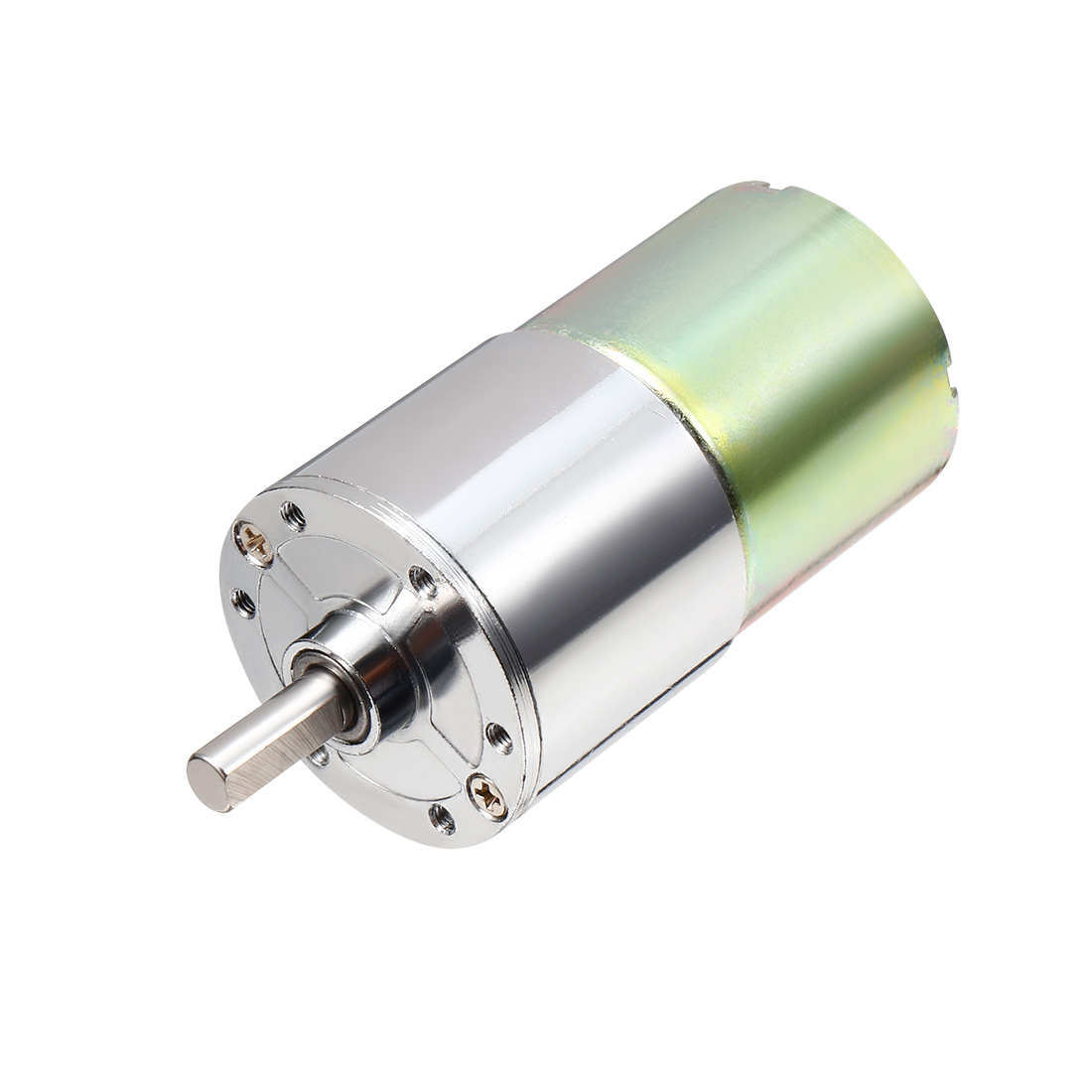 DC 24V 10RPM 6mm Shaft Dia Cylinder Magnetic Electric Geared Box Motor