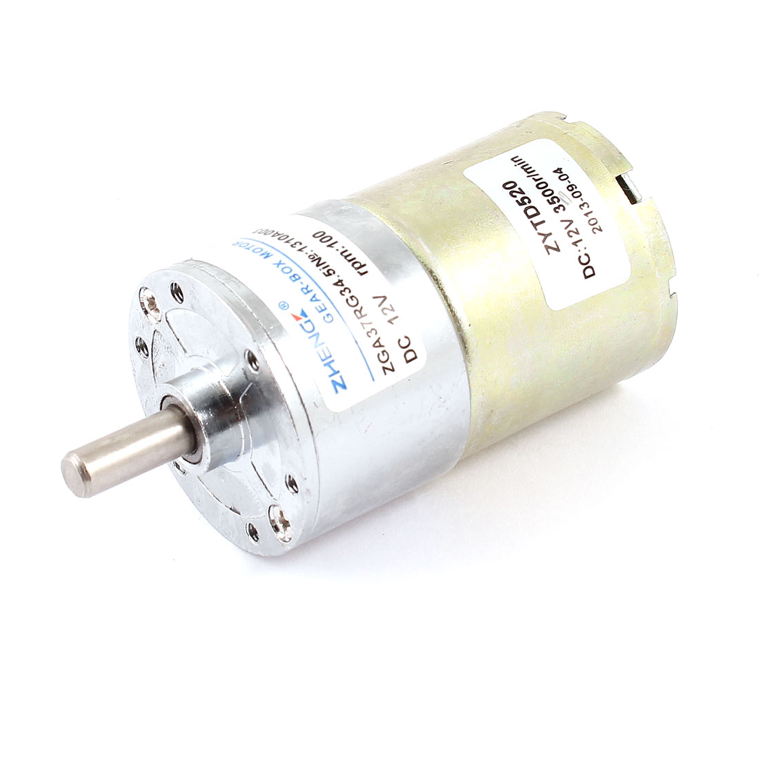 DC 12V 3500RPM 6mm Shaft Dia Speed Reduce Magnetic Electric Geared Box Motor