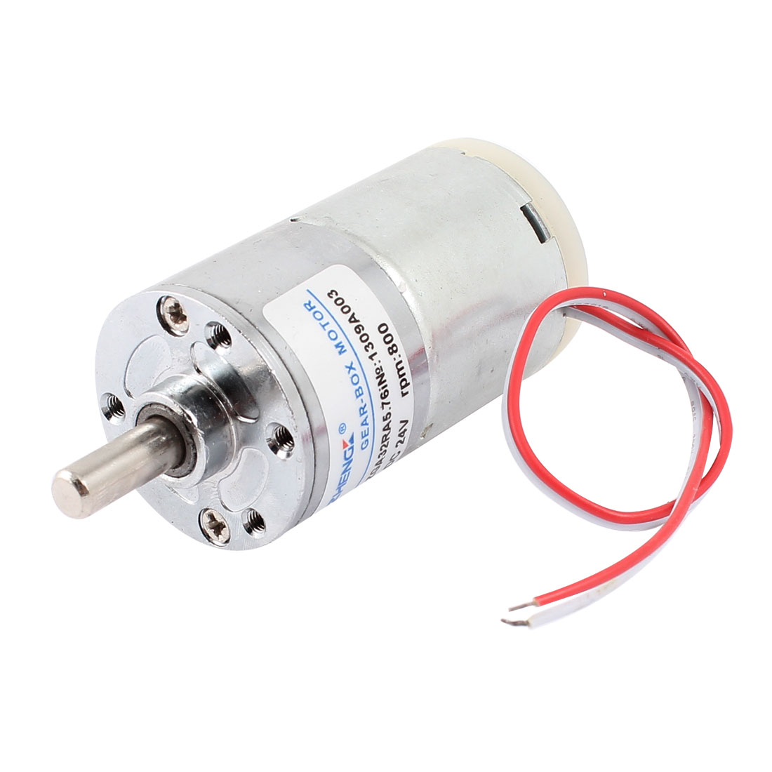 DC 24V 5000RPM Speed Reduce Wired Magnetic Electric Geared Box Motor
