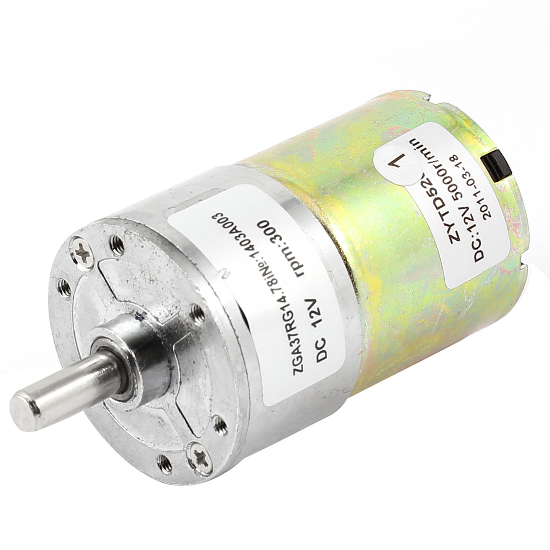DC 12V 5000RPM 6mm Shaft Dia Speed Reduce Magnetic Electric Geared Box Motor