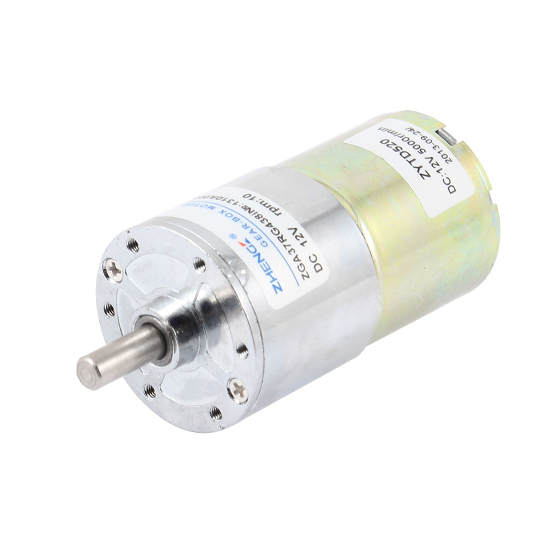 DC 12V 10RPM 6mm Shaft Dia Cylindrical Magnetic Electric Geared Box Motor