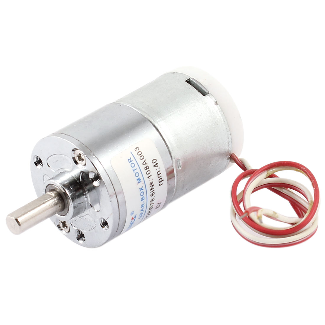 DC 6V 3500RPM 6mm Shaft Dia Speed Reduce Wired Metal Electric Geared Box Motor