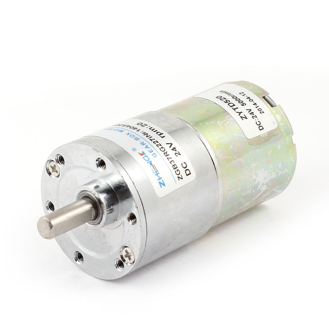DC 24V 20 RPM 6mm Dia Shaft Magnetic Gearbox Electric Geared Motor