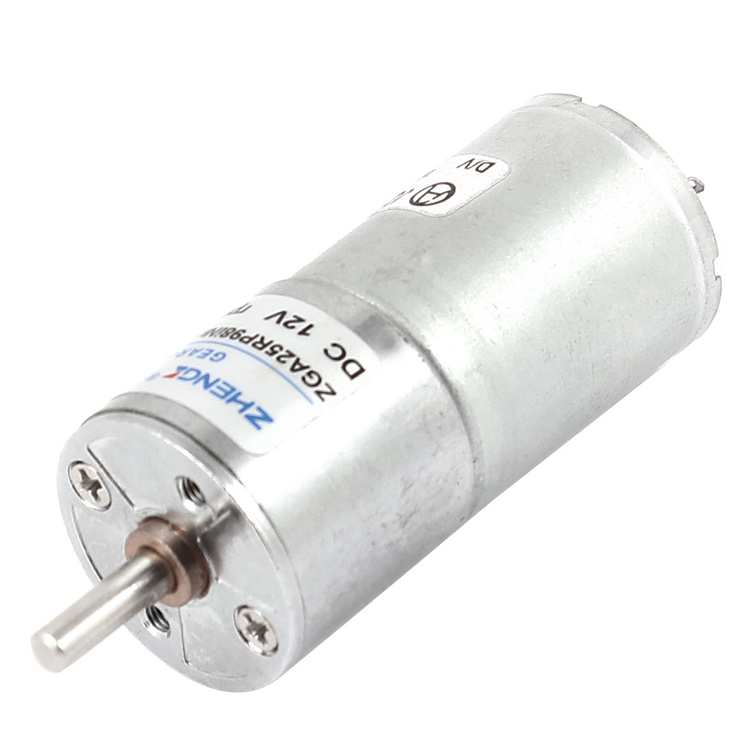 DC 12V 60RPM 4mm Shaft Dia Cylinder Magnetic Electric Geared Box Motor