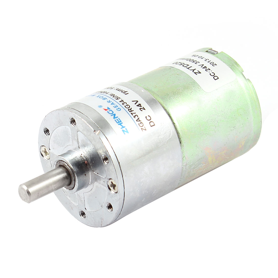 DC 24V 100RPM 6mm Shaft Dia Cylindrical Magnetic Electric Geared Box Motor