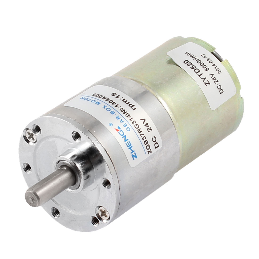 DC 24V 5000RPM 6mm Shaft Dia Cylinder Magnetic Electric Geared Box Motor