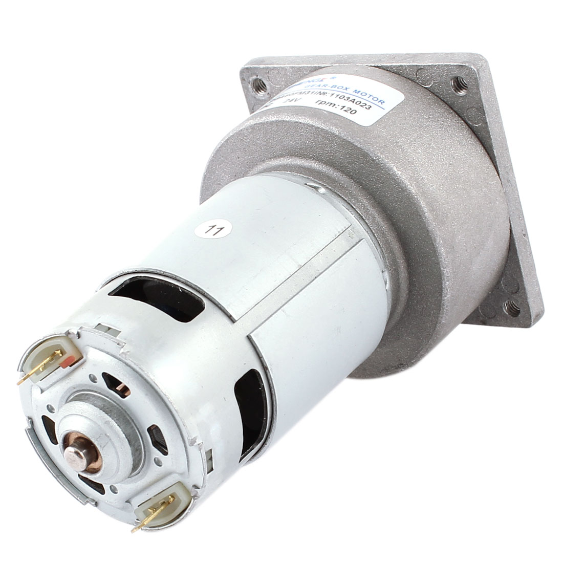 DC 24V 4600RPM Powerful Flange Mounted Magnetic Electric Geared Motor