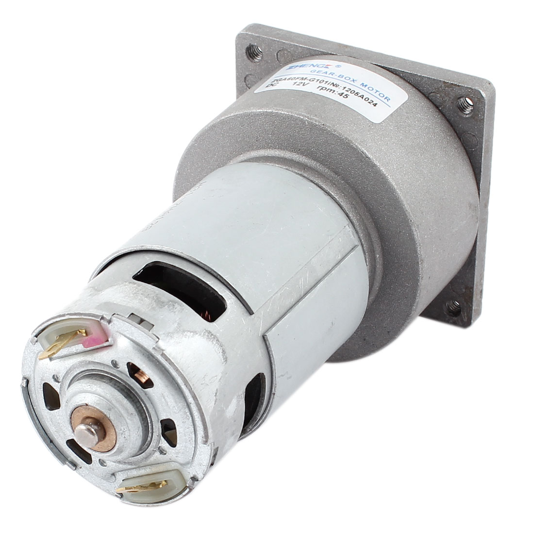 DC 12V 4600r/Min Flange Mount High Torque Magnetic Electric Geared Motor