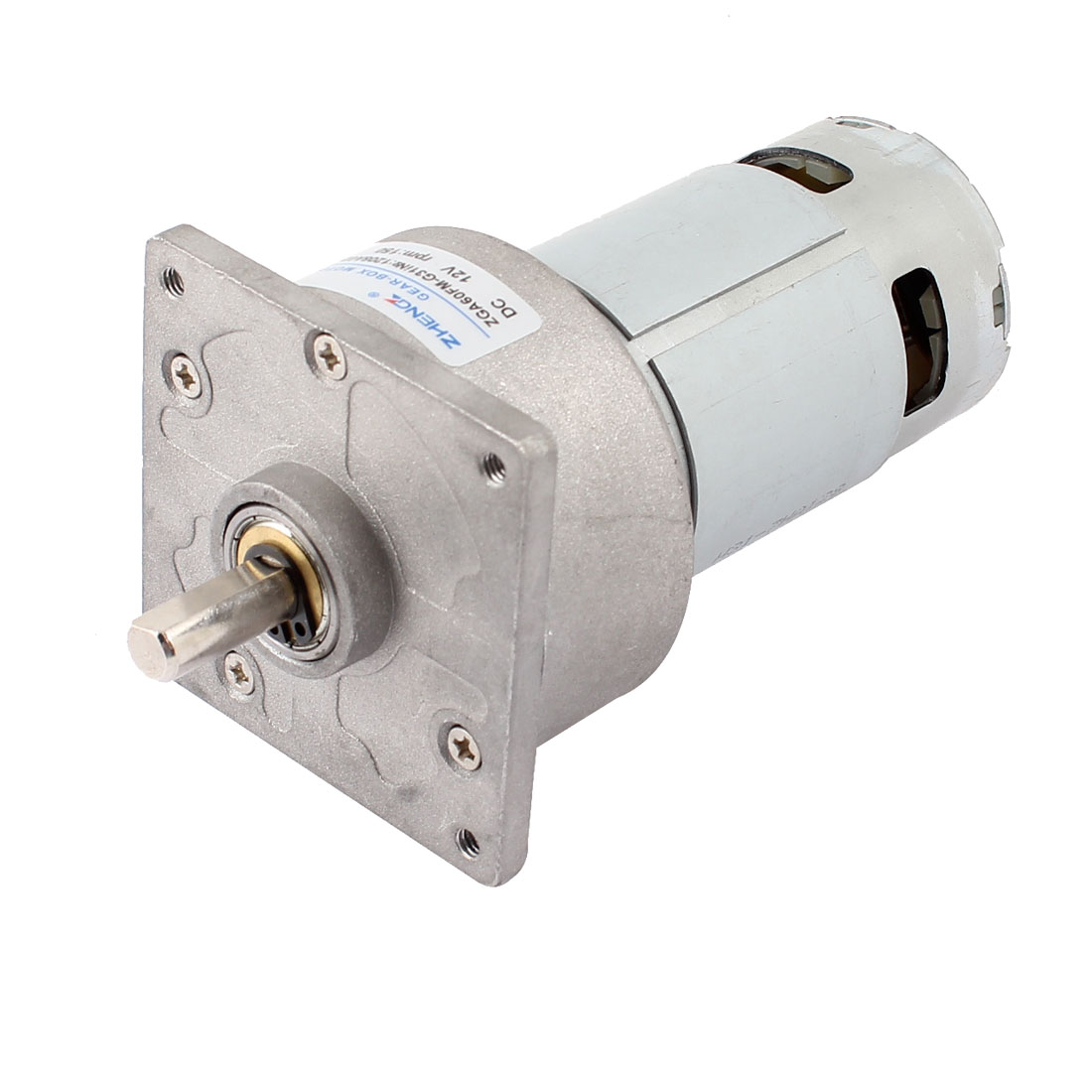 DC 12V 4600r/Min Flange Mounted Speed Reduce Magnetic Electric Geared Motor