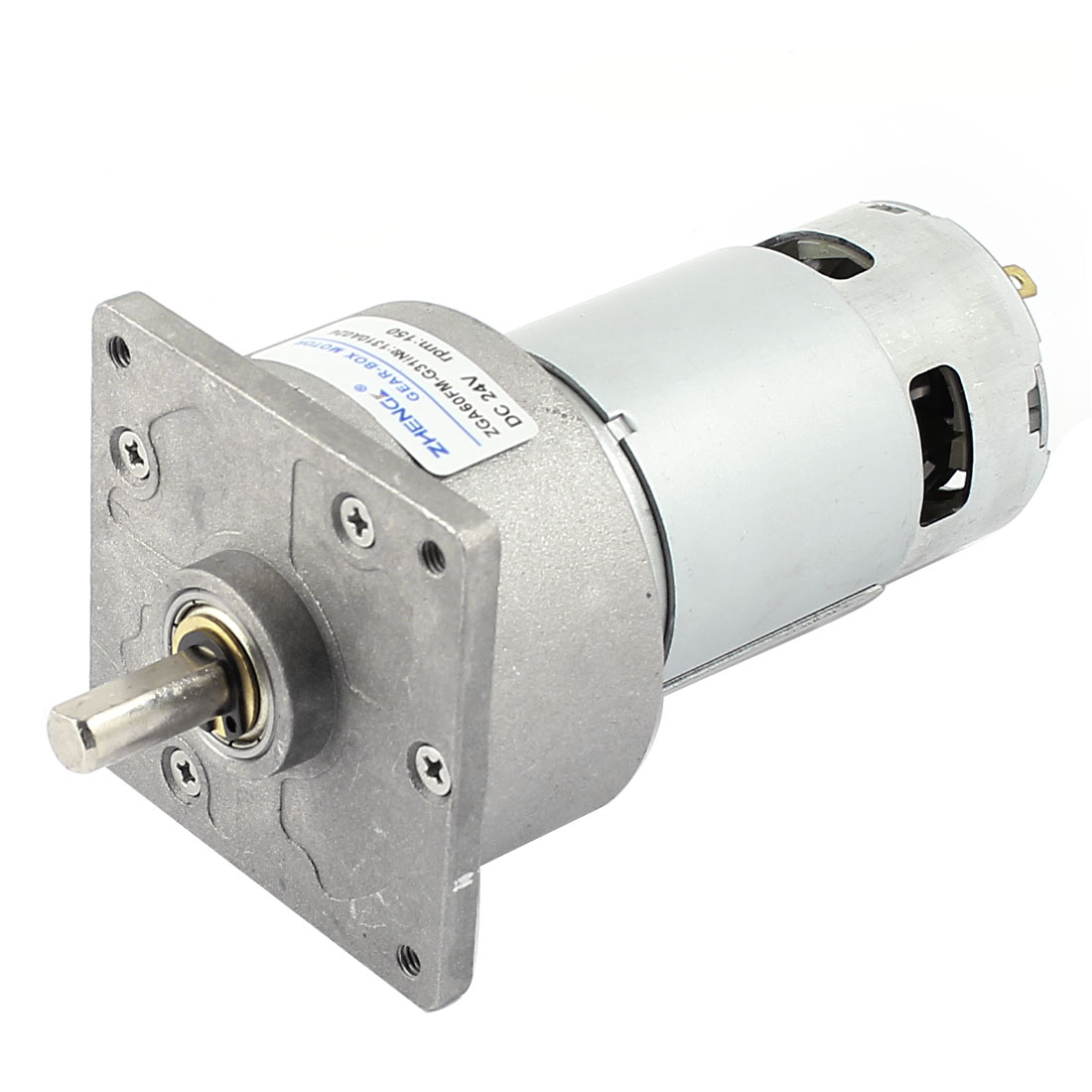 DC24V 4600r/Min Powerful Flange Mount Speed Reduce Electric Geared Box Motor