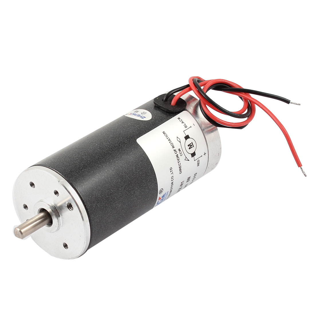 DC 24V 4000 RPM Speed 8W Power 5mm Dia Shaft Wired Connector Metal Electric Motor