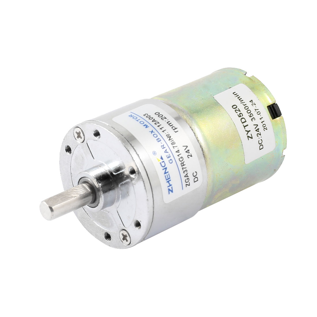 DC 24V 200 RPM Speed 6mm Dia Shaft Magnetic Gearbox Electric Geared Motor