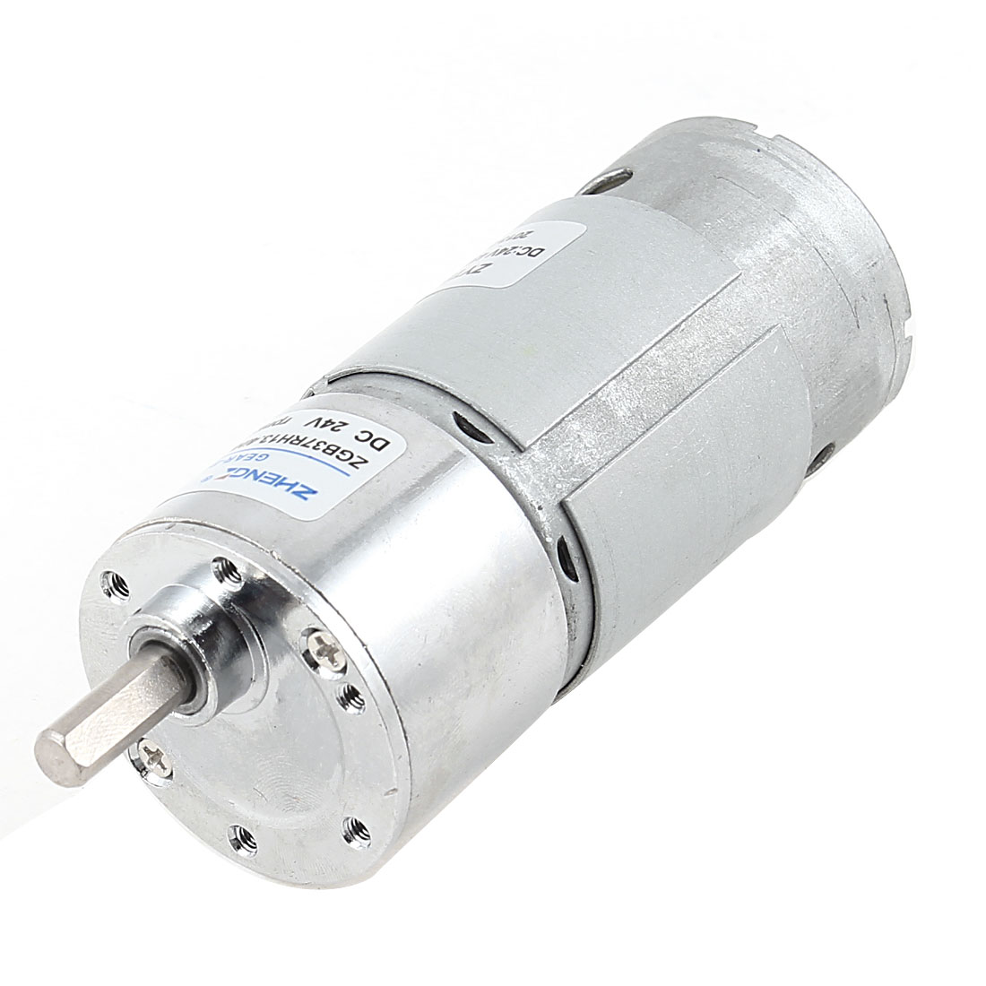 DC 24V 300RPM 6mm Shaft Dia Cylinder Magnetic Electric Geared Box Motor