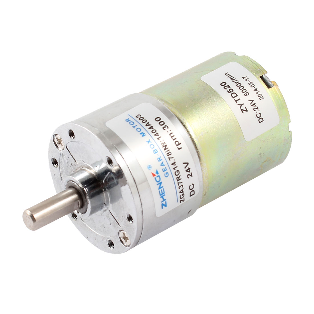 DC 24V 300 RPM Speed 6mm Dia Shaft Magnetic Gearbox Electric Geared Motor