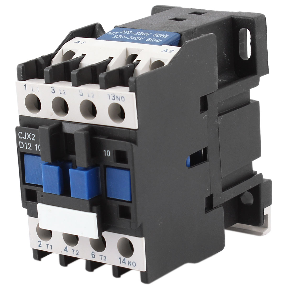 CJX2-1210 220V Coil 3 Poles 3P 35mm DIN Rail Mounting NO DIN Rail AC Contactor